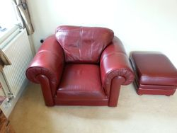 Leather Chair &Footstool