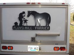 Custom Farrier Horse Sign