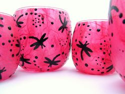 Shocking Pink and Black Dragonflies