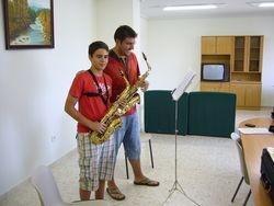Clase de saxo con Antonio
