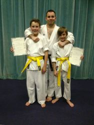 Joe and lewis to yellow belt 2013