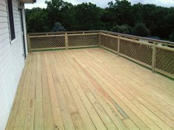 12' X 32' Pressure Treated Deck 1