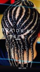 spider braids by bee