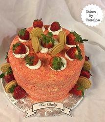 a strawberry short cake