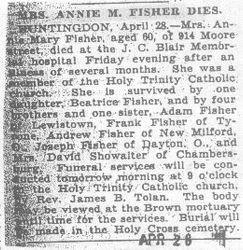 Fisher, Annie 1930