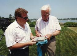 MLBaron with Walter Cronkite