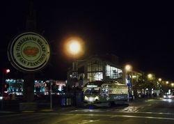PCC #1078 at Fisherman's Wharf, by night.