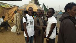 Our team : Tamsier Joof, Demba Sene and Prof. Issa Laye Thiaw at Diamagane