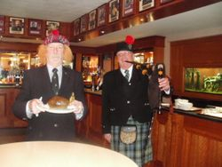 Presentation of the Haggis Burns Supper