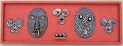 faces--ceramic,steel,chain
