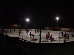 Outdoor Curling on The Rink