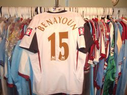 Yossi Benayouns Worn 2006 FA Cup Final Shirt worn May 13th 2006 vs Liverpool at the Millenium stadium, Cardiff