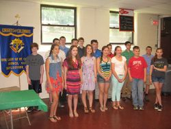 This year's altar server class...Godspeed!
