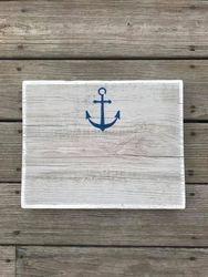 Grey wash w/ navy anchor