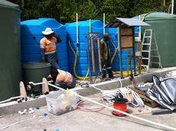 Triple Bioreactor System being installed
