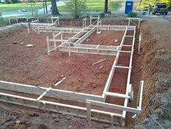 Preparing lot for foundation