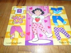 Melissa & Doug Girl Dress-Up Mix 'n Match Peg Puzzle - $5