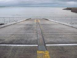 Slipway at Newcastle lifeboat station