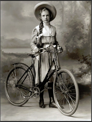 One Girl and her Bike. 1909.