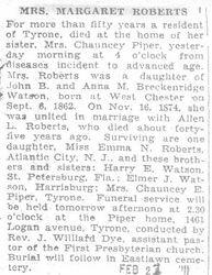 Roberts, Margaret Watson 1931