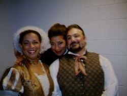 With Tosca and Cavardossi