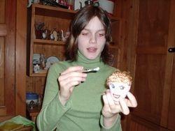 The puppet hairdresser