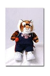 Tiger in basketball outfit - display only