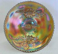 "FENTON, Utah Liquor Co. 6"" plate - amethyst"
