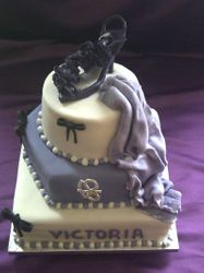 3 tier 18th birthday cake with shoe