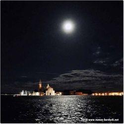 full moon Venice, Italy