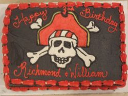 Pirate/ Jolly Rodger Cake
