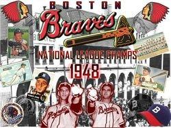 1948 Boston Braves postcard