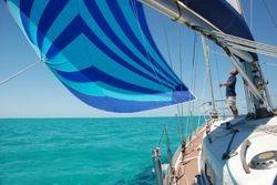 Cruising chute in the Bahamas