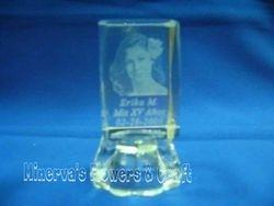 lamparitas de cristal con foto