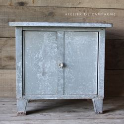 #29/228 FRENCH METAL CABINET