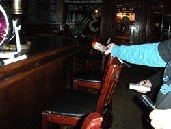 High EMF readings near bar.