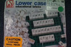 Lower case educational bricks