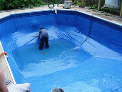 getting pool liner wrinkles out