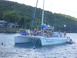 Catamaran in US Virgin Islands