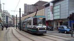 """Tram 1002 """"DA VINCI"""" by the Arndale Centre"""