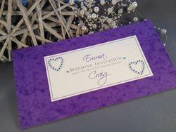 Diamante heart cheque book