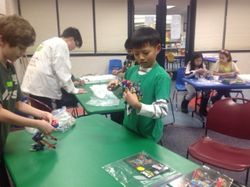 Our SUNS 4th-6th K'Nex Workshop on Robot Building Series on M.02.23.2015 at Fremont Public Library