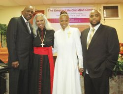 Dr. Hunter, Bishop Hunter, Pastor Bell and Deacon Bell