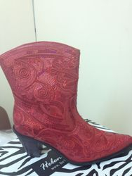 Red Short Bling Boots