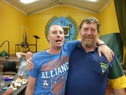Winners Damien & Peter