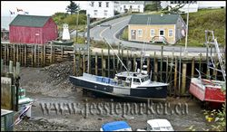 Halls Harbour,NS at Low Tide