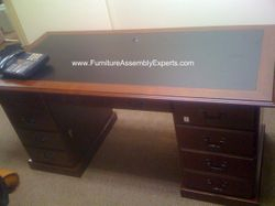 Sauder executive desk installation service in Waldorf MD
