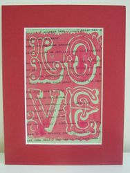 Love poster on vintage songsheet