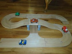 PlanToys City Road and Rail Roadway Set - $20