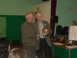 Mike Williams Recieving the Mossland Of Gordonsfield Sheild